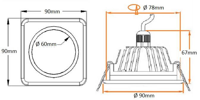 dimensions led salle de bains