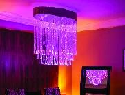 lustre en fibre optique